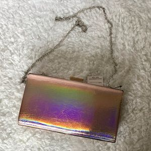 Sasha Rose Gold Clutch or Shoulder Bag NWT
